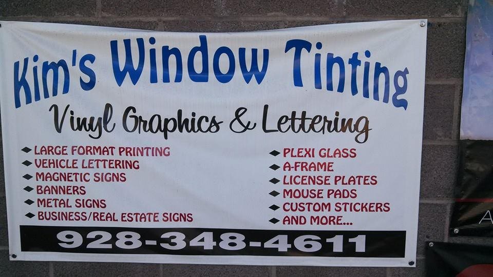 Custom graphics and lettering vinyl banners
